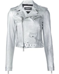 Silver biker jacket original 8877398
