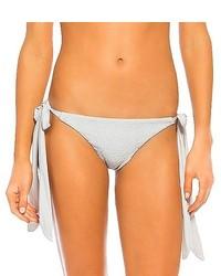 Tori Praver Seafoam Scarf Tie Bikini Bottom Silver Grey