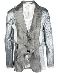 Comme Des Garcons Homme Plus Comme Des Garons Homme Plus Crinkled Steel Effect Stripe Blazer
