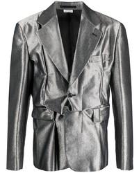 Comme Des Garcons Homme Plus Comme Des Garons Homme Plus Metallic Deconstructed Blazer