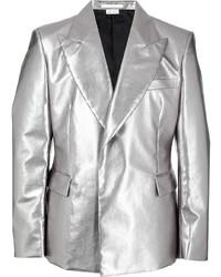 Comme Des Garcons Homme Plus Comme Des Garons Homme Plus Metallic Single Breasted Blazer