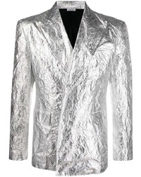 Comme Des Garcons Homme Plus Comme Des Garons Homme Plus Single Breasted Crinkled Metallic Jacket