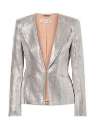 Rachel Zoe Daisy Metallic Woven Blazer