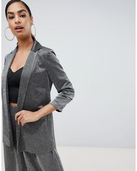 ASOS DESIGN Relaxed Suit Blazer In Metallic