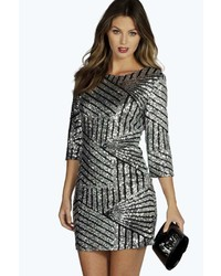 Silver Bodycon Dress