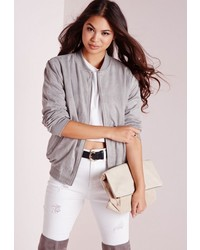 Women's Silver Bomber Jackets by Missguided | Women's Fashion