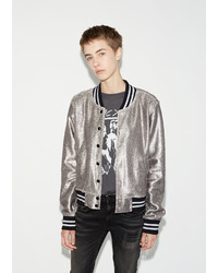 R 13 R13 Shrunken Metallic Roadie Jacket