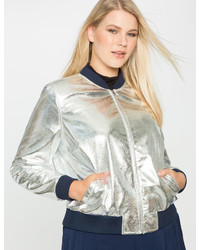 Sporty metallic bomber jacket medium 3590472