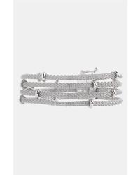 Anne Klein Multi Row Mesh Bracelet Silver