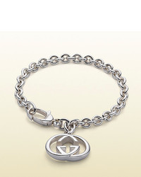 Gucci Bracelet With Interlocking G Motif Charm