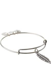 Feather charm bangle bracelet medium 205200