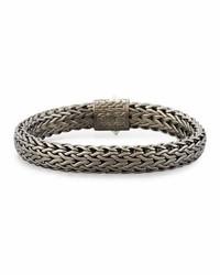 John Hardy Flat Classic Chain Bracelet Dark Silver