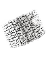 Jessica Simpson Bracelet Silver Tone Stretch Cuff