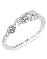 Lucky Brand Bracelet Silver Tone Elephant Cuff Bracelet