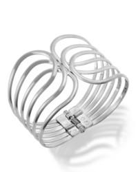 Macy's Sequin Bracelet Silver Tone Open Cuff Bracelet