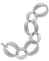 Macy's Sterling Silver Bracelet 8 Textured Link Bracelet