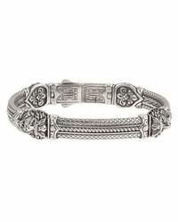 Konstantino Olus Sterling Silver Tiger Head Bracelet