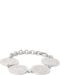 Gucci Rhodium Plated Coin Bracelet