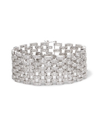Kenneth Jay Lane Rhodium Plated Cubic Zirconia Bracelet