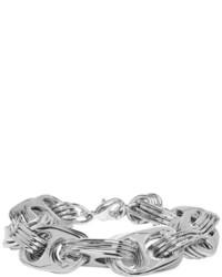 Balenciaga Silver Bottlecap Chain Bracelet