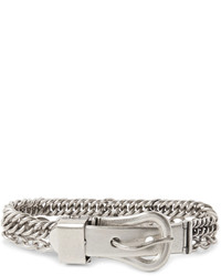 Maison Margiela Silver Buckle And Chain Bracelet