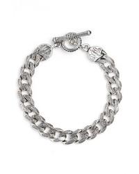 Silver classics etched link bracelet medium 3741877