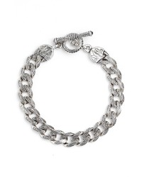Konstantino Silver Classics Etched Link Bracelet