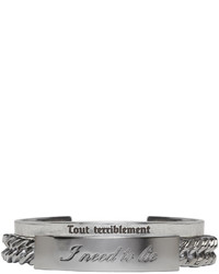 Saint Laurent Silver Double Bracelet Set