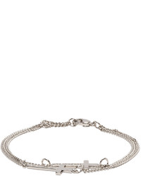 DSQUARED2 Silver Double Cross Bracelet