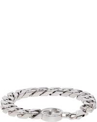 Gucci Silver Gg Logo Bracelet