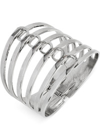Steve Madden Silver Tone Multi Row Hinge Bangle Bracelet Web Id 1730084