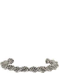Balmain Silver Twist Scoubidou Bracelet