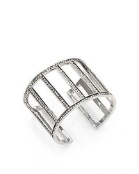 St. John Crystal Cuff Bracelet Silver