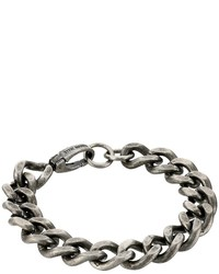 Steve Madden Stainless Steel 9 Curb Chain Bracelet Bracelet