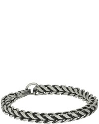 Steve Madden Stainless Steel 9 Twisted Curb Chain Bracelet Bracelet