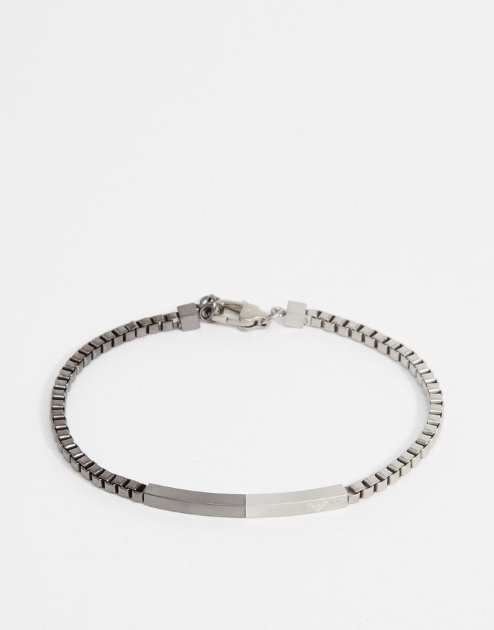 Emporio Armani Stainless Steel Chain Bracelet Where To Buy How