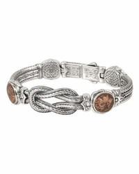 Konstantino Sterling Silver Copper Coin Bracelet