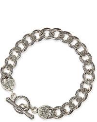 Sterling silver flat link bracelet medium 670688