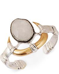 Lucky Brand Two Tone Modern Metals Organic Horn Cuff Bracelet
