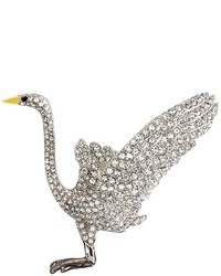 Brooks Brothers Audubon Crane Crystal Brooch