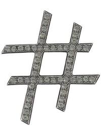 Lanvin Embellished Hashtag Brooch