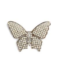 Nina Faux Pearl Crystal Butterfly Brooch