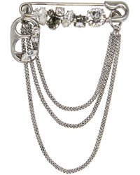 Marc Jacobs Silver Safety Pin Chain Brooch