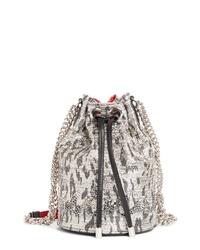 Christian Louboutin Marie Jane Boucle Bucket Bag