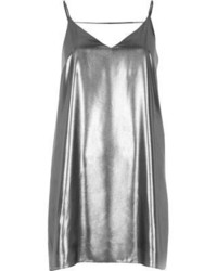 River Island Silver Strap Back Cami Dress