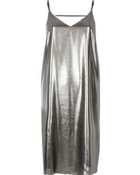 River Island Silver Strap Back Cami Midi Dress