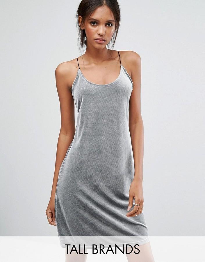 5cefb96ec9e5f ... Dresses Vero Moda Tall Velvet Rib Cami Dress ...