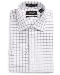 Nordstrom Shop Smartcare Extra Trim Fit Check Dress Shirt