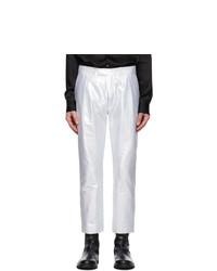 Ann Demeulemeester Silver Helm Trousers