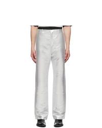 PACO RABANNE Silver Lurex Trousers